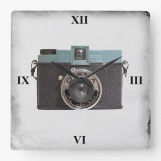 Diana Camera Square Wall Clock
