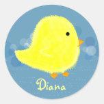 Diana Cute Baby Chick Sticker