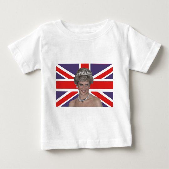 Diana flying the Flag Baby T-Shirt