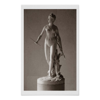 Diana the Huntress, 1780 (marble) Poster