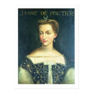 Diane de Poitiers (oil on canvas) Postcard