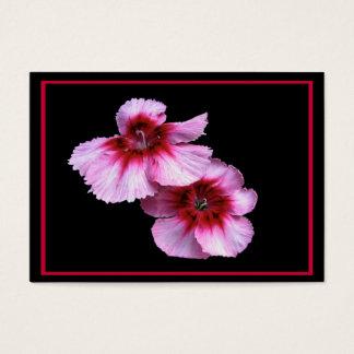 Dianthus Blossoms ATC Business Card