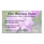 Dianthus Plumarius Flower Business Card Template