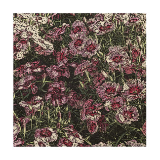 DIANTHUS WOOD WALL DECOR