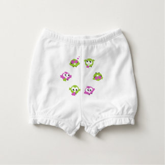 Diaper baby bloomers with Birds Nappy Cover