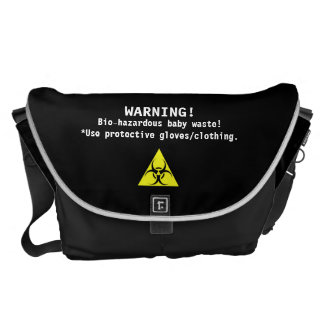 Diaper Bag Bio-Hazardous-humor Courier Bags