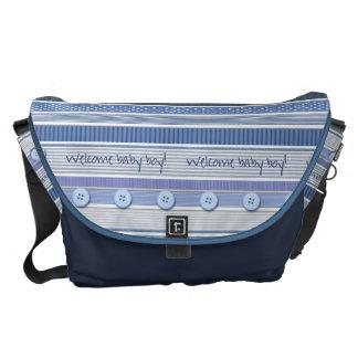 Diaper Bag - Welcome Baby Boy Commuter Bag