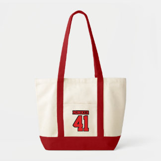 Diaper Bag WHITE RED BLACK Football Baby
