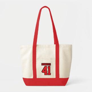 Diaper Bag WHITE RED BLACK Football Baby