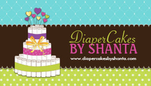 Diaper cake gifts gift ideas zazzle uk diaper cake business cards reheart Choice Image