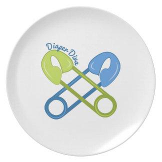 Diaper Diva Dinner Plate