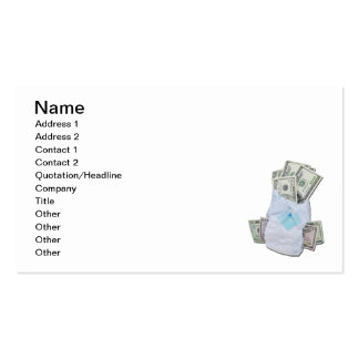 Diaper Filled with Money Business Card Template
