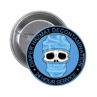 Diaper Hazmat Decontamination 6 Cm Round Badge
