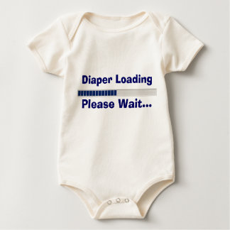 Diaper Loading Please Wait Baby Bodysuit