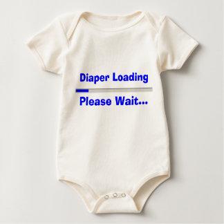 Diaper Loading Please Wait Baby Bodysuit