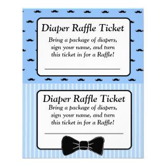 Diaper Raffle Baby Shower Game, Moustache Bowtie Flyer