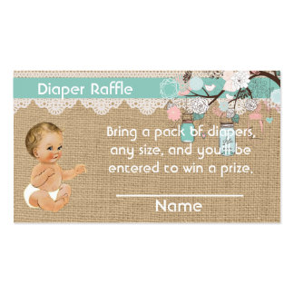 Diaper Raffle Insert Vintage baby and mason jars Pack Of Standard Business Cards