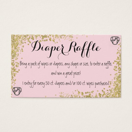 Diaper Raffle Invitation Insert