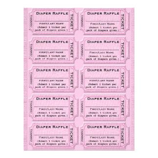 Diaper Raffle Ticket Template Flyer