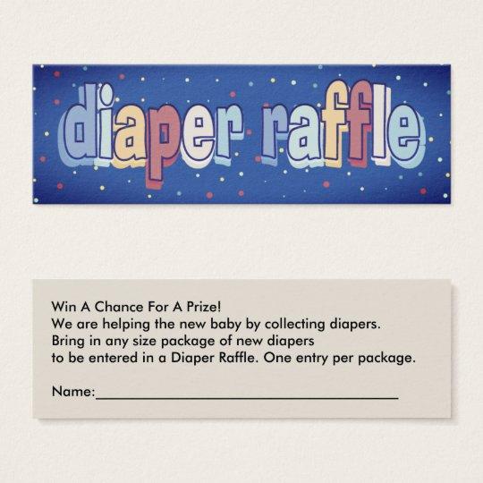 Diaper Raffle Tickets Baby Shower Game