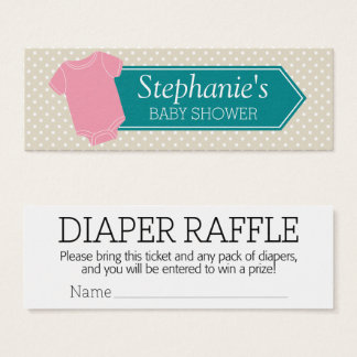 Diaper Raffle Tickets - Baby Shower Game Pink Girl