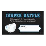 Diaper Raffle Tickets / Chalkboard boy baby shower Pack Of Standard Business Cards