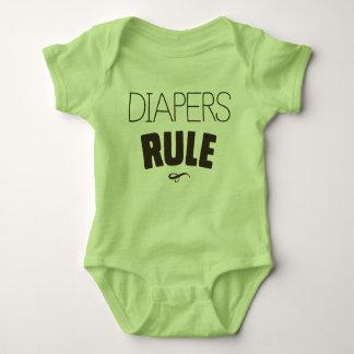 Diapers Rule Baby Bodysuit