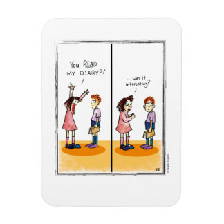 DIARY cartoon by Ellen Elliott Rectangular Photo Magnet