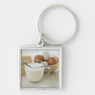 Diary products Silver-Colored square key ring