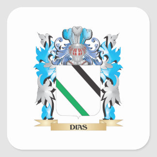 Dias Coat of Arms - Family Crest Square Stickers