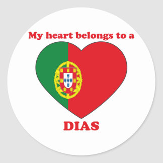 Dias Round Sticker