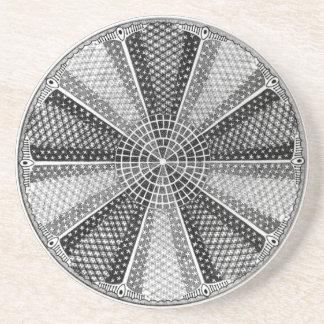 Diatom 13 Ernst Haeckel Fine Art Beverage Coasters