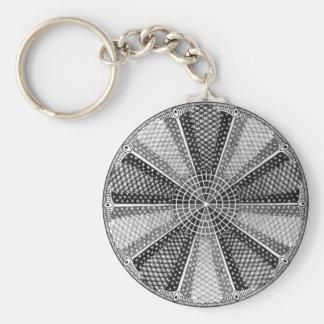 Diatom 13 Vintage Fine Ernst Haeckel Basic Round Button Key Ring