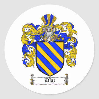 DIAZ FAMILY CREST -  DIAZ COAT OF ARMS STICKERS