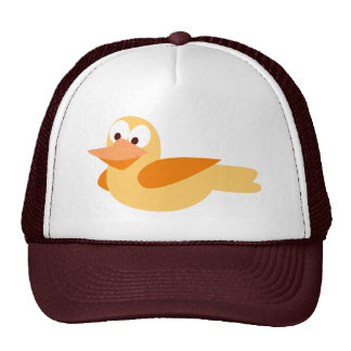 Dibujo infantil divertido pato volando gorros bordados