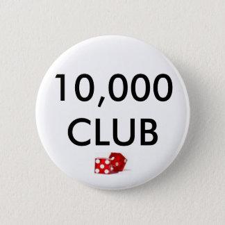dice, 10,000 CLUB 6 Cm Round Badge