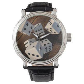 Dice 3D wood Watch