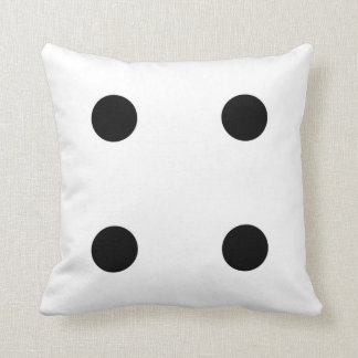 dice 4 and dice 3 cushion