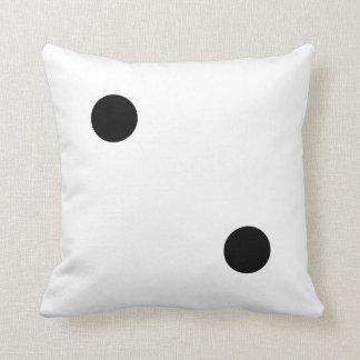 dice 5 and dice 2 cushion