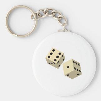 Dice Basic Round Button Key Ring