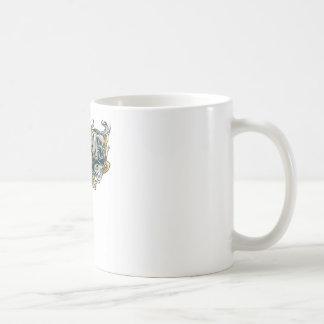 Dice Fire skull Basic White Mug