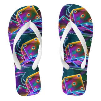 Dice flashy 3D Flip Flops