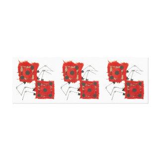 Dice Ladybug Long Canvas Canvas Print
