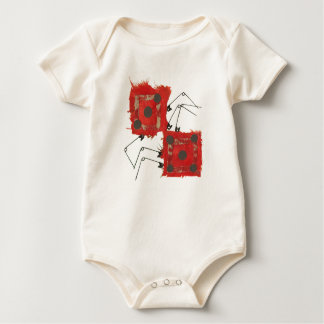 Dice Ladybug No Background Organic Babygro Baby Bodysuit