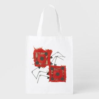 Dice Ladybug No Background Reusable Bag