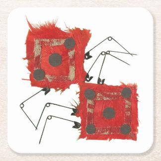 Dice Ladybug Paper Coasters