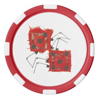 Dice Ladybug Poker Chips