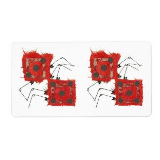 Dice Ladybug Shipping Labels