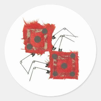 Dice Ladybug Stickers