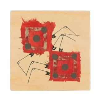 Dice Ladybug Wooden Coaster